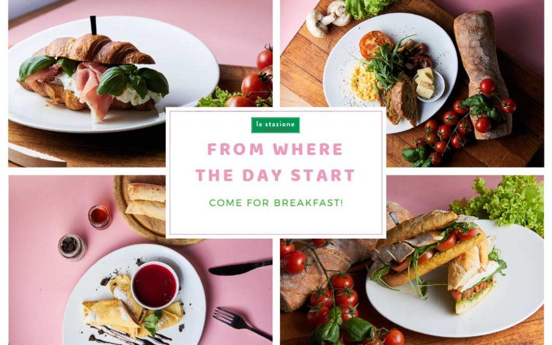 Smaczne i zdrowe  śniadania w  La Stazione